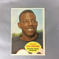 1960 TOPPS 14 WILLIE GALIMORE BEARS FOOTBALL CARD FLORIDA THE WISP EX