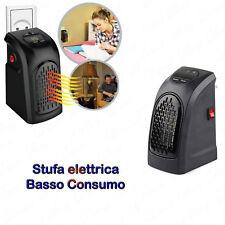 STUFA ELETTRICA PORTATILE STUFETTA A BASSO CONSUMO 400W CON GRADI REGOLABILI