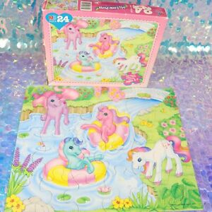 My Little Pony 24 Piece Puzzle Kid Size Pieces Age 3-7 G2 MLP Complete 1997 G388