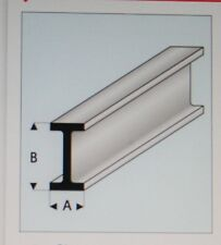 "MAQUETT 414-52/3 White Styrene I-beam 4.0mm x 2.0mm / 0.156""x 0.080"" x 330mm X5"
