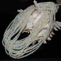 1 Strand Natural Ethiopian Welo Fire Opal Smooth Rondelle Beads Necklace LOT 17
