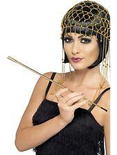Costume Ladies 1920s Flapper Hollywood Ganster Gold Cigarette Holder