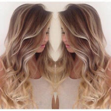 100% Brazilian Remy Human Hair Wigs Ombre Blonde Wavy Lace Front Full Lace Wigs