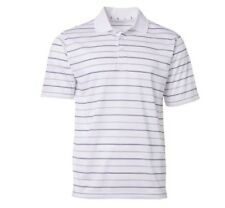 Walter Hagen Mens S Essentials Railroad Stripe Golf Polo Shirt White MGA11217