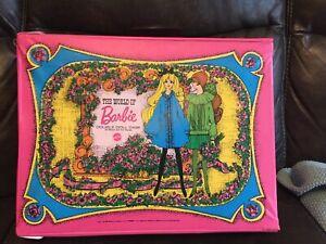 Vintage 1968 Mattel World of Barbie Double Doll Case #1007 PINK