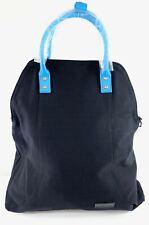 Forbes & Lewis Tote Shoulder Bag Canvas Leather Black Blue