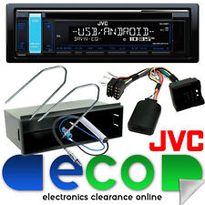 PEUGEOT 207 2006 JVC CD mp3 USB AUX IN AUTO STEREO & & Volante KIT DI MONTAGGIO