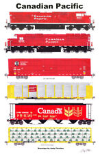 """Canadian Pacific General Merchandise Train 11""""x17"""" Poster Andy Fletcher signed"""
