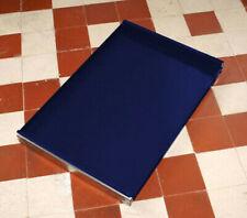 * USM Haller Ausziehtablar Auszug 750x500 * Blau * 75x50 cm, Stahlblau * Tablar