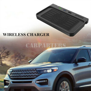 For Ford Explorer Wireless Car Charger Phone Fast Charging Storage Box 2020-2021