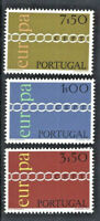 Portugal EUROPA 1971 Mint NH Complete Set Scott # 1094 - 1096 $9.75 Retail Value