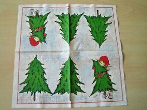 1 Lunch Papier Serviette Napkin (TX838)  Mädchen mit Tannenbaum