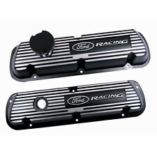 SET OF BLACK SATIN TRUCK VALVE COVERS FOR 302 and 351W EFI trucks  M-6582-A351R
