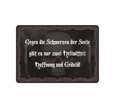 "Schild Hinweisschild Hinweis ""Gegen die Schmerzen der Seele"" Gothic Skull Bones"