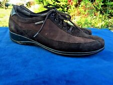 MEPHISTO Cool Air Mary Janes Loafers Oxfords Brown Suede Womens Shoes Size 7.5