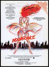 INSIGNIFICANCE__Original 1985 Trade print AD / poster_movie promo__NICOLAS ROEG