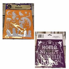 Halloween Stencils, 2 pieces