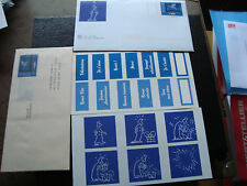 FRANCE - enveloppes et document 1998 (magritte) (cy42) french