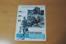 JAMES BOND  007 SEAN CONNERY THUNDERBALL 1965 RARE SYNOPSIS