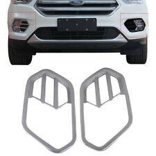 2 PCS Chrome Plated Front Fog Light Lamp Cover Trim  for Ford Escape 2017