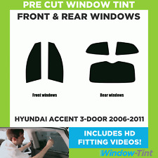 Pre Cut Window Tint - Hyundai Accent 3-door Hatchback 2006-2011 - Full Kit
