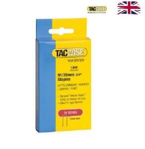 Tacwise 91 Series Staples 18 Gauge 20mm 0284