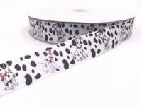 5-10 Yard 1'' 25MM spotted dog Printed Grosgrain Ribbon Hair Bow Sewing Ribbon