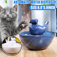 Ceramic Cat Dog Pet Auto Circulating Water Dispenser Fountain Bowl Drinker
