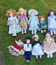 Job Lot Of Porcelain Dolls x10