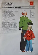 UNCUT Femme & Fille 70 S Poncho Vintage sewing pattern silver aiguilles 7 Multi Taille