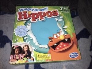 """BOXED """" HUNGRY HUNGRY HIPPOS """" MARBLE MUNCHING GAME BY HASBRO DATED 2017"""