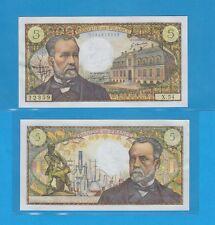 Banque de France 5 Francs Pasteur du 5-5-1967 X.54 Billet N° 0134612359