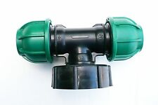 """IBC ADAPTER (S60X6 2"""" Coarse Thread) to 25 mm Double MDPE Compression Fitting"""