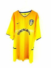 Leeds United Away Shirt 2002. XL. Nike. Yellow Adults Short Sleeves Utd Football