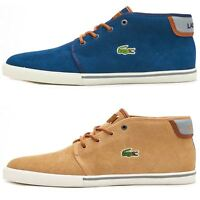 Lacoste Ampthill Chukka Ankle Suede Winter Boots High Top Trainers Blue & Brown