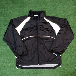 Vintage Wilson Sporting Goods Black & White Athletic Windbreaker Jacket - L