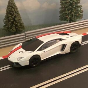 Scalextric 1:32 Car - Red & White Lamborghini Aventador #WM