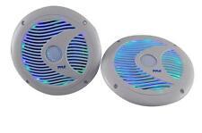 """Pyle 6.5"""" Waterproof Marine Speakers w/ Built-in Multi-Color LED 150 Watt White"""
