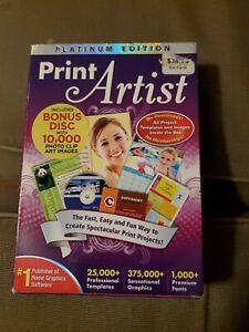Print Artist Platinum Edition Version 23 for Windows 7, Vista & Windows XP