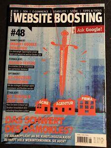 Zeitschrift WEBSITE BOOSTING #48 | Gebraucht | SEO, SEA, Online-Marketing
