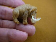 (tb-wooly-7) little baby Woolly Mammoth Tagua Nut palm figurine Bali carving