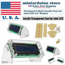 LCD1602 Transparent Acrylic LCD Shell for 2.5'' 1602 yellow/blue Enclosure Case