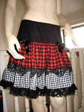 Knee Length Cotton Checked Flippy, Full Skirts for Women