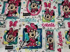 Fabric for Sewing Crafts Quilt Mask DISNEY MINNIE MOUSE Kids 9x21 SCRAP Cotton