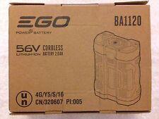 New EGO BA1120 56V 56 Volt 2.0 Ah ARC Lithium Ion Battery Integrated Fuel Gauge