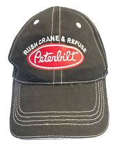 Peterbilt Black Baseball Hat Rush Crane & Refuse Converse, TX White Accents