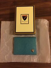 BNWT Aspinal of London ID & Travel Card Case in turquoise colour