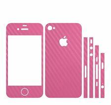 Carbon Handy Folie Sticker Skin Schwarz/pink Passend Für´s Iphone 5s Computer, Tablets & Netzwerk Tablet & Ebook-zubehör