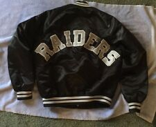VTG Chalk Line Los Angeles Raiders NFL Satin Jacket SZ M Big Double Logo's Rare