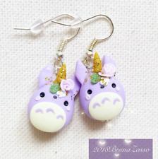 Orecchini Totoro Unicorno Cute Unicorn Miyazaki Ghibli Pastel Colors Fimo Clay